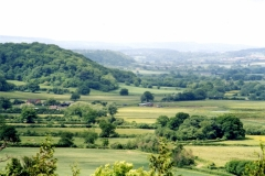 View from the Somerset Levels towards Fivehead