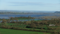 The Somerset Levels in flood Christmas Eve 2013