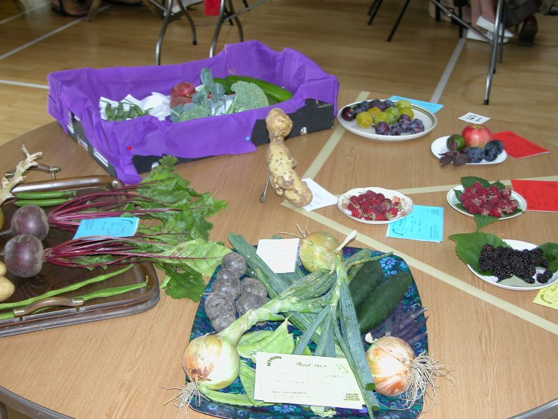 Prixe winning vegetable and fruit displays