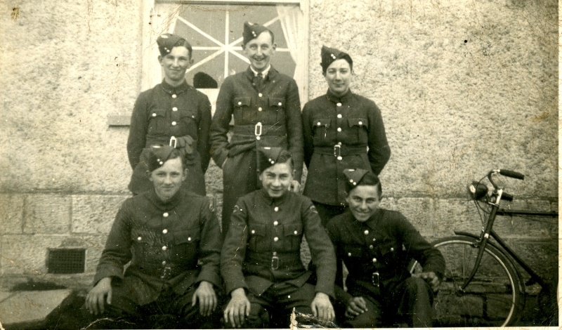 Home Guard outside The Foxhound public house