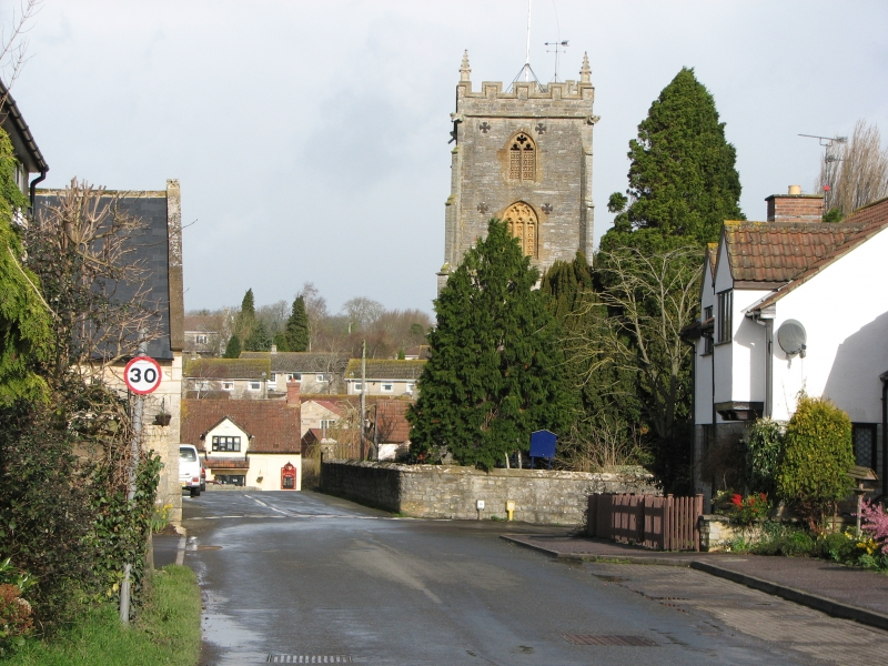 View towards the Crown Inn and St Martin's Church