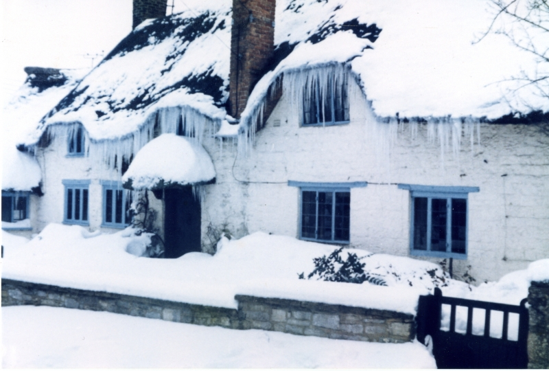 The Old Forge covered in icicles