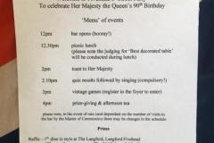 1 - Programme of Events