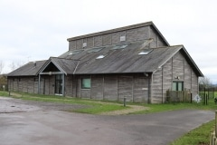Front of the village hall from the childrens' play area