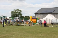 Summer Fete showing the Village Hall and the Marquee