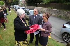 Kate Beacham (Fivehead Parish Council Chair) with Graham and Sheila Land