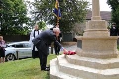 Col Tony Potter laying a wreath on behalf of the British Legion (Curry Rivel Drayton and Fivehead Branch)