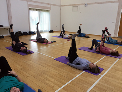 Pilates in hall